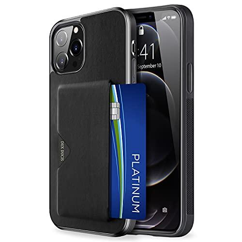 【背面カード収納付】 iPhone 13 Pro ケース カード収納 上質な手触り アイフォン 13 プロ カバー 耐衝撃 軽量 薄い ICカード収納 OWLGuardian スマホケース (iPhone 13 Pro ブラック)
