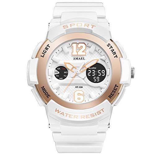 Jungen Uhren Mädchen Uhren Kinder Armbanduhr Jungen Digital Analog Wasserdicht Sports Uhren Für Jungen Und Mädchen Digital Uhr Sports Uhren,Rose Gold