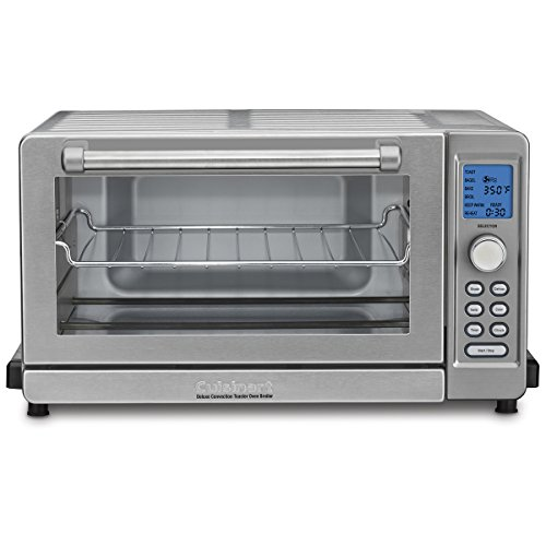 """Cuisinart TOB-135 Deluxe Convection Toaster Oven Broiler, Brushed Stainless, 9.3"""" x 18.3"""" x 15.3"""", Silver"""
