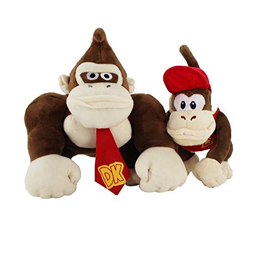 dingtian Juguete de Peluche 14-19cm Dos Tipos Super Mario Bros Monkey Donkey Kong Y Diddy Kong Peluches Rellenos Suaves Regalos para Niños