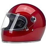 Casco integral Biltwell Gringo S rojo metálico Candy Red homologado doble ECE (Europa) & DOT (America) Helmet Biker Custom Vintage Retro Año 70 Talla S