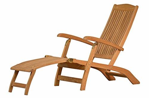 Kai Wiechmann Premium Deckchair Brighton Teak-Holz Liegestuhl unbehandelt & wetterfest ✓