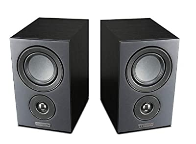 Mission LX-1 Bookshelf Speaker - Black Wood (pair) by Mission
