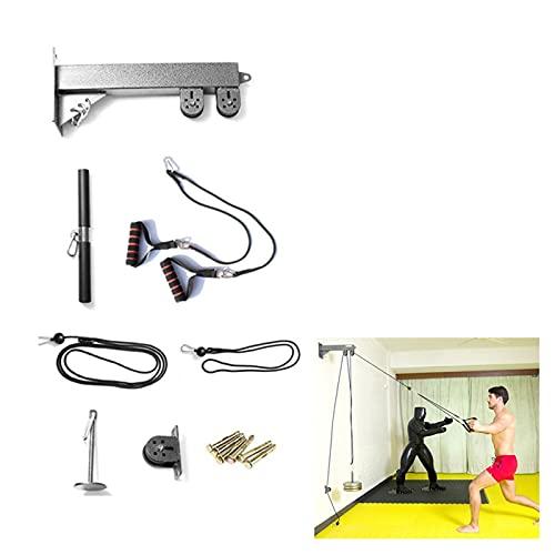 XPZ Sistema De Polea De Cables De Bricolaje De Pared, Correa para La Barra Extraíble De Lat, Máquina De Fitness, Flexión De Bíceps, Extensión De Tríceps Y Ejercicios Rectos