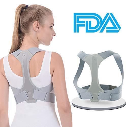 Posture Corrector for Men and Women - FDA Approved - Adjustable Upper Posture Brace for...