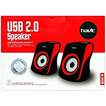 Havit HV-SK599 2.0 Channel PC Speakers (Black/Red)