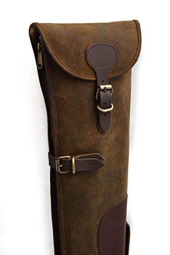 John Shooter England Thick Brown Leather Shotgun Slip Case