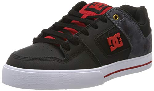 DC Shoes Herren Pure Se - Low-top Shoes for Men Skateboardschuhe, Black/red, 52 EU
