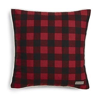 Eddie Bauer 216690 Cabin Plaid Flannel 20  Decorative Pillow,Red