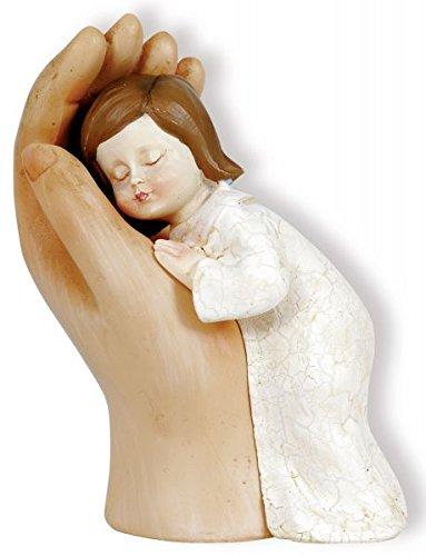 Figur behütet - Hand mit Kind 12 cm