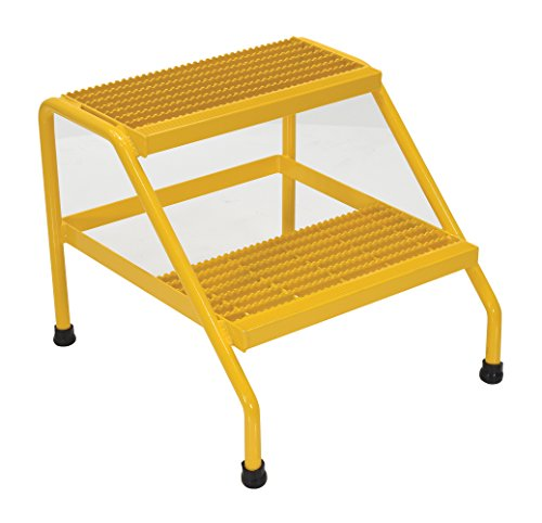 Vestil SSA-2-Y Aluminum Step Stand - 2 Step Welded, Yellow