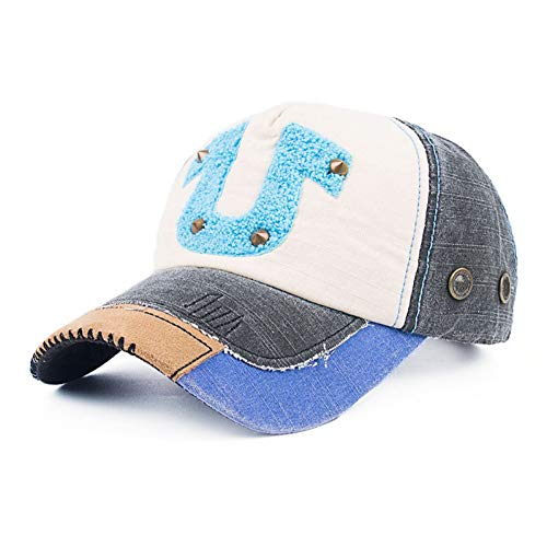 CGXBZA Baseball cap kleur bijpassende handdoek geborduurd hoefijzer katoen outdoor cap baseball cap
