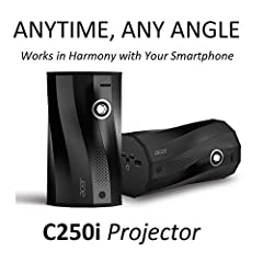 Full HD (1920 x 1080) Anytime, Anywhere, Any Angle Projector Auto Portrait Projection   Any Angle Projection   Built-in Wireless Projection via Android or iOS device   Mobile USB display (charging smart device simultaneously) USB Type-C Display and C...