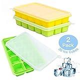 UTAKE Eiswürfel Eiswürfelform LFGB Zertifiziert BPA frei Silikon Eiswürfelschale mit Deckel...