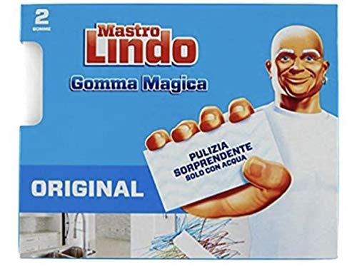 Mastro Lindo - La Gomma Magica, con Doppio Strato - 6 Confezioni da 2 gomme [12 gomme]