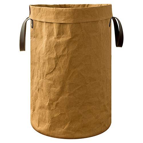 LINGGE Polyester opbergmand, opvouwbaar en schattig wasbad/wasmand/wasmand/slaapkamer opslag oplossing kantoor, slaapkamer, kleding, speelgoed, wasserij (rond)