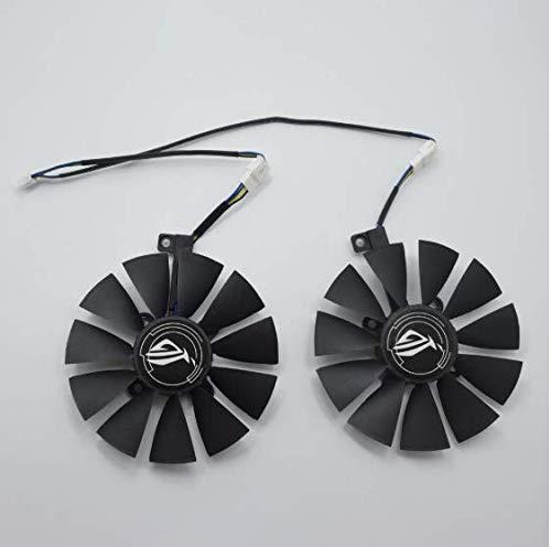 QHXCM 2 Stks/partij voor 87MM T129215SU Cooler Fan Voor ASUS GTX 1060ti 1060 1070 RX 470 570 580 Graphics Card Koeling Fans DIY