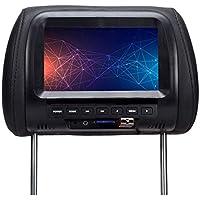 GCDN Coche Monitor,7 Pulgadas Pantalla LCD Reposacabezas Monitores con Puerto USB/Tarjeta TF Ranura/Tocable Teclas Soporte Foto/HD Video/Música/Radio,Etc.Auto Accesorios Universal Compatible