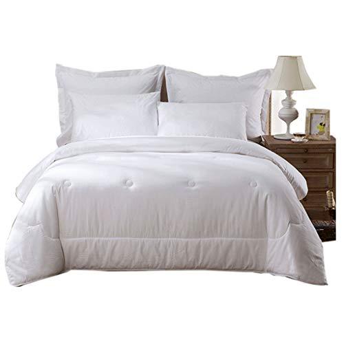ZHAOP YELONG Thicken Keep Warm Hochwertige Seidensteppdecke Doppelte Steppdecke Schlafzimmer-Bettbezüge (Farbe : Weiß, größe : 200×230cm(2kg))