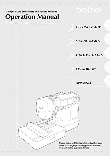 Brother SE-400 Sewing Embroidery Machine Owners Instruction Manual [Plastic Comb] There and Back
