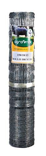 Malla anudada galvanizada Agrofence 150/18/15 (100 mts lineales por rollo)