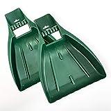 UPP Laubgreifer 2-teilig aus TOP-Qualitätskunststoff | Ergonomisch designter Laubsammler hilft bei der Gartenpflege | Schnell und kontaktfrei Laub & Verschnitt aufsammeln