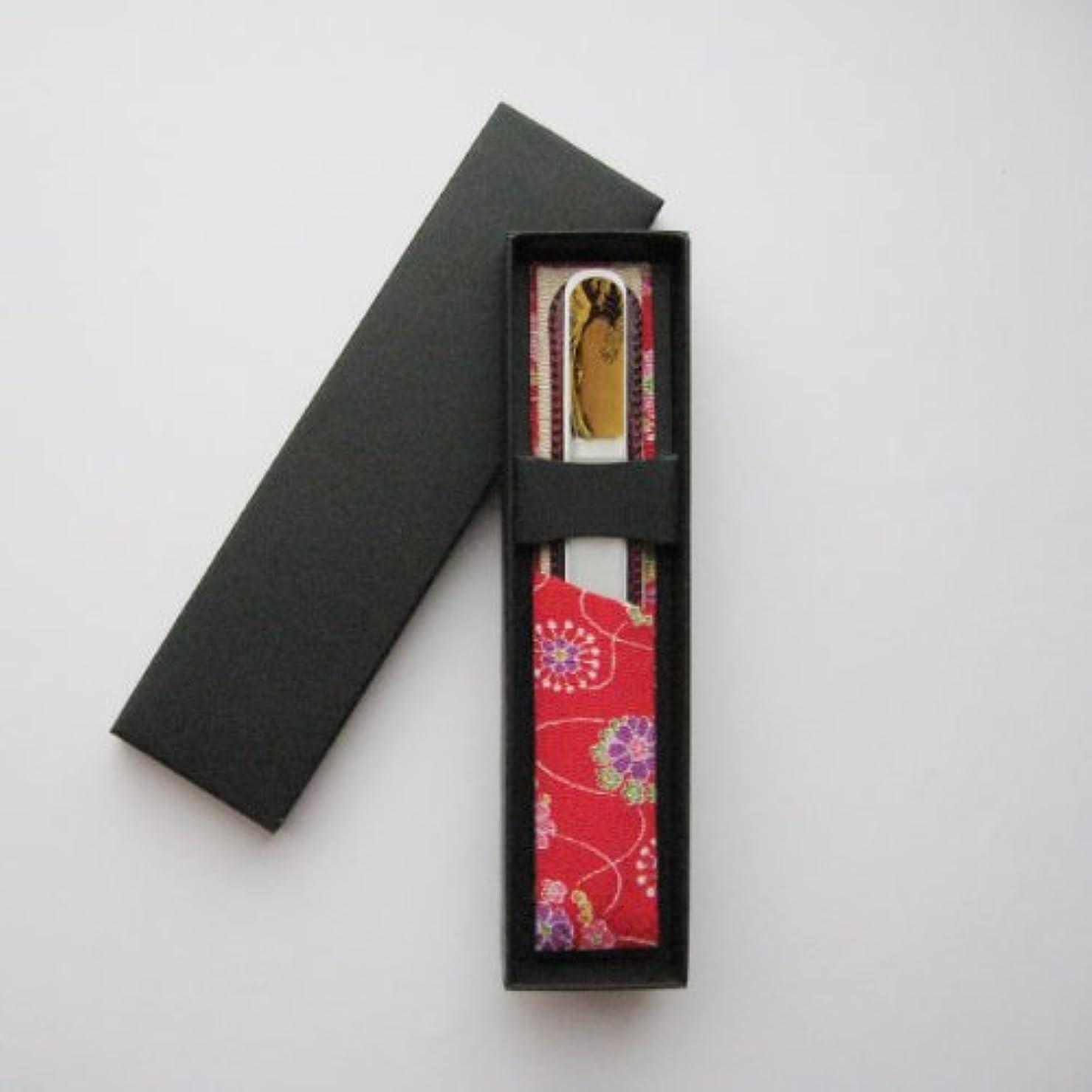 組蜂悲惨な橋本漆芸 ブラジェク製高級爪ヤスリ 特殊プリント加工 波裏 紙箱