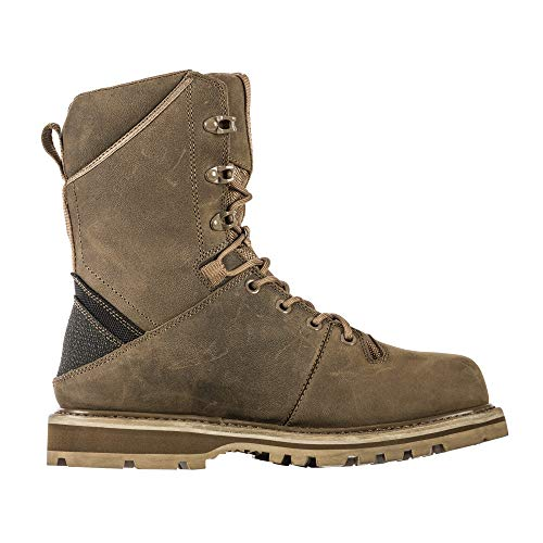 5.11 Tactical Apex 8-Inch Waterproof Boots, BBP-Resistant Membrane, Vibram Outsole, Dark Coyote, 10, Regular, Style 12374
