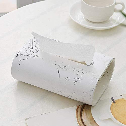 Qivor TLF-FF tisular Caja de pañuelos de Almacenamiento de Caja Los titulares de Tejido Caja de pañuelos, Sala de Estar, Mesa de Centro, Cajón, Cemento Moda, pequeños Adornos