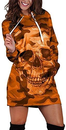 pingrog Damen Mode Langarm Hoodie Sweatshirt Lang Kapuzenpullover Mode Camouflage...