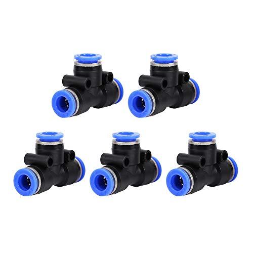 Conectores de unión en T Montaje rápido de plástico-Accesorios neumáticos a presión Válvula de aire Manguera de agua Conector de tubería Carpintero TP