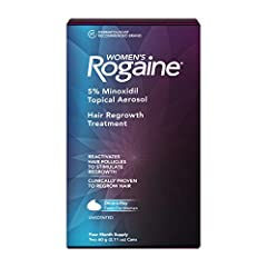 4-month supply of Women's Rogaine 5% Minoxidil Foam hair growth treatment to help treat thinning hair, hair loss and regrow fuller hair Specially formulated for women, this fast-working hair growth treatment is made with 5% Minoxidil and is clinicall...