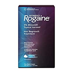 Women's Rogaine 5% Minoxidil Foam for Hair Thinning and Loss, Topical Treatment for Women's Hair Reg