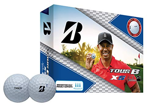 Bridgestone Golf Unisex – Erwachsene Tiger Woods TourB XS Golfball, Weiß, One Size