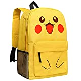 Mokago Yellow Backpack Oxford Large Capacity Students Schoolbag