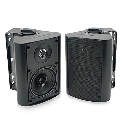 Herdio 4 inches Outdoor Indoor Bluetooth Speakers Weatherproof Wall Mount Speakers Garden Patio Home Speakers Store Shop Exterior External speakers by Herdio