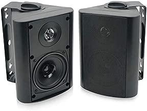 Herdio 4 Inch Outdoor Indoor Patio Bluetooth Wall Mount Speakers Waterproof (Black)