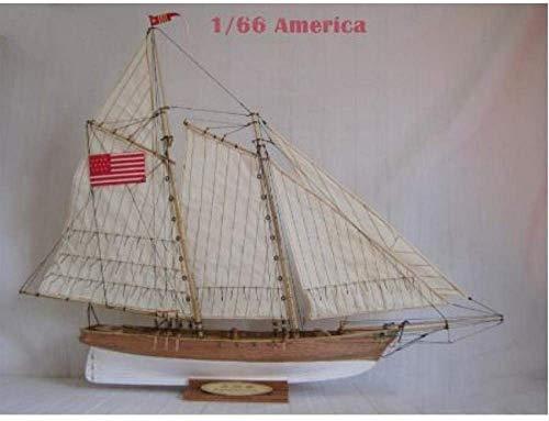 RUXMY Kit de Montaje de Modelo de Barco de Vela de Madera clásico Modelo de velero de decoración Kit de Barco 1/66 Modelo DIY