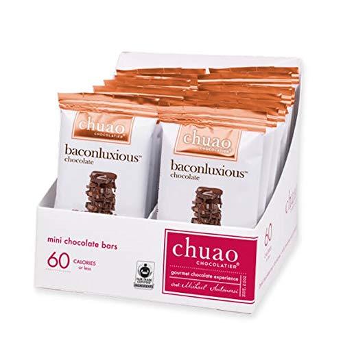 Chocolate Bars - Chuao Chocolatier Baconluxious Mini Chocolate Bars 24pk (.39 oz mini bars) - Best-Selling Chocolate Pack - Gourmet Artisan Milk Chocolate - Free of Artificial Flavors