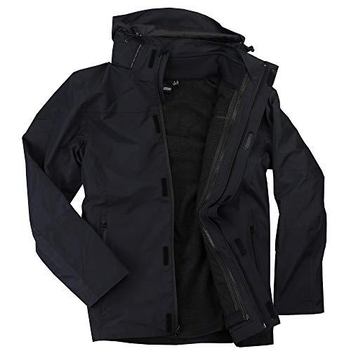 Mens 3-in-1 Ski/Snowboarding Wateproof Windproof Winter Jacket (Black, Large)