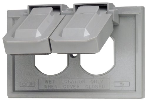 Leviton 4976-GY 1-Gang Duplex Device Wallplate Cover, Weather-Resistant, Thermoplastic, Device...
