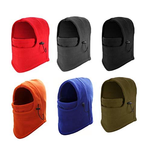 pasamontañas Máscara térmica cálida a prueba de viento Máscara completa Calentador de cuello polar, Sombreros sin costuras con 2 haces para hombres Hombres Snowboard Ciclismo Camping Caza Senderismo