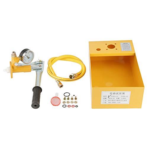 Bomba de prueba de presión de agua, bomba hidráulica manual 2.5Mpa 25KG para agua o aceite hidráulico como medio, una variedad de recipientes a presión, tuberías,