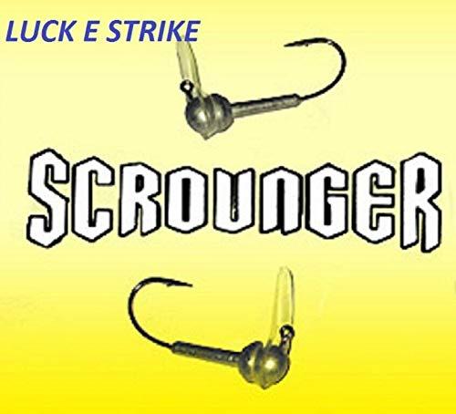 Lucky E Strike Scrounger Long Bill Jig Head, Choice Sizes