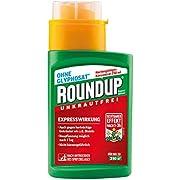 Roundup Express Konzentrat Unkrautvernichter Konzentrat, gegen Unkräuter und Gräser, Ohne Glyphosat, bis zu 310m², 250 ml