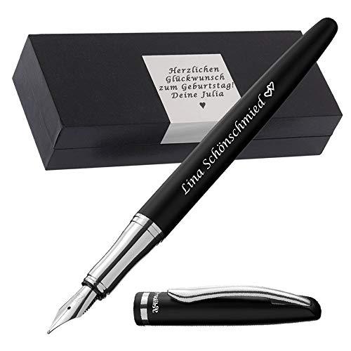 Pelikan Füller mit Gravur als Geschenk & Symbol mit Gravur auf Geschenkverpackung Pelikan Füllhalter Jazz Elegance Schwarz FS PS62