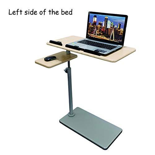Afneembare nachtkastje aan de linkerkant van het bed, laptop tafel eenvoudige opklaptafel luie lift tafel hoogte verstelbare kantelbed lade