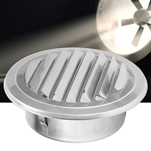 Tubo de ventilación de acero inoxidable con rejilla de ventilación de aire para campanas extractoras para secadora