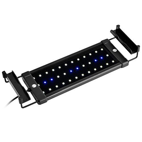 NICREW ClassicLED Eclairage Aquarium, Rampe LED pour Aquarium d'eau Douce, Lumière Aquarium Plantes, 2 Modes Lampe LED pour Aquarium, 30-48 cm, 6W, 7000K