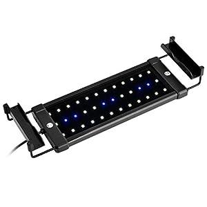 NICREW ClassicLED Luz LED Acuario, Pantalla LED Acuario, Iluminación LED para Acuarios Plantados Lámpara LED para Peceras 30-48 cm, 6W, 7000K